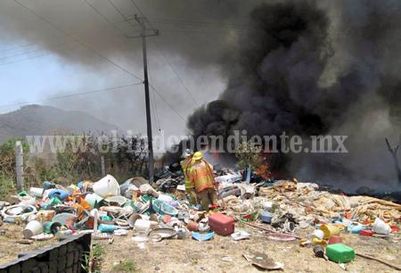TANGANCICUARO Arde recicladora (3)