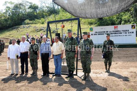 CUMPLE SEDENA CON MICHOACÁN, INICIA CONSTRUCCIÓN DE CUARTEL MILITAR EN COALCOMÁN