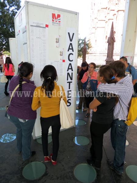 Jóvenes ocuparon 80 por ciento de vacantes ofertadas en Feria del Empleo