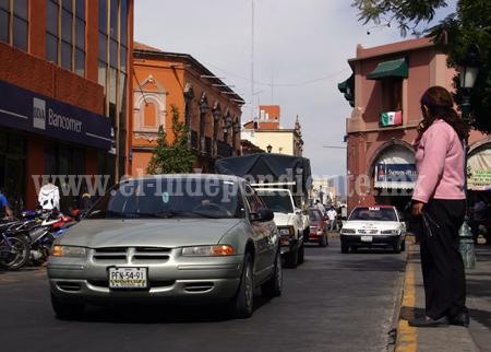 Tercera parte del tráfico vehicular en Zamora es de personas foráneas