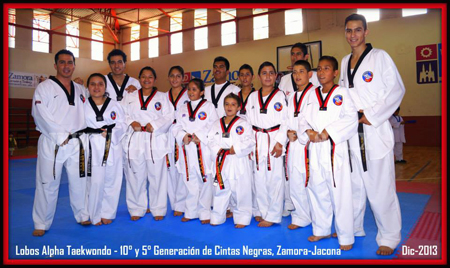 Nueva camada de Lobos Taekwondo de Alpha Zamora-Jacona