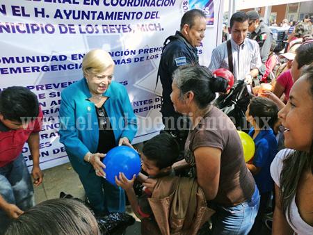 DIF y Policía Federal realizaron jornada de salud