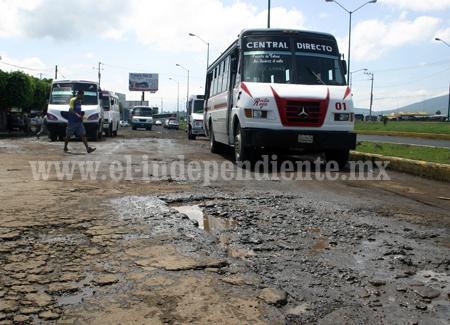 Destinarán 2.8 mdp para reparar tramo de acceso oriente, frente a Central Camionera