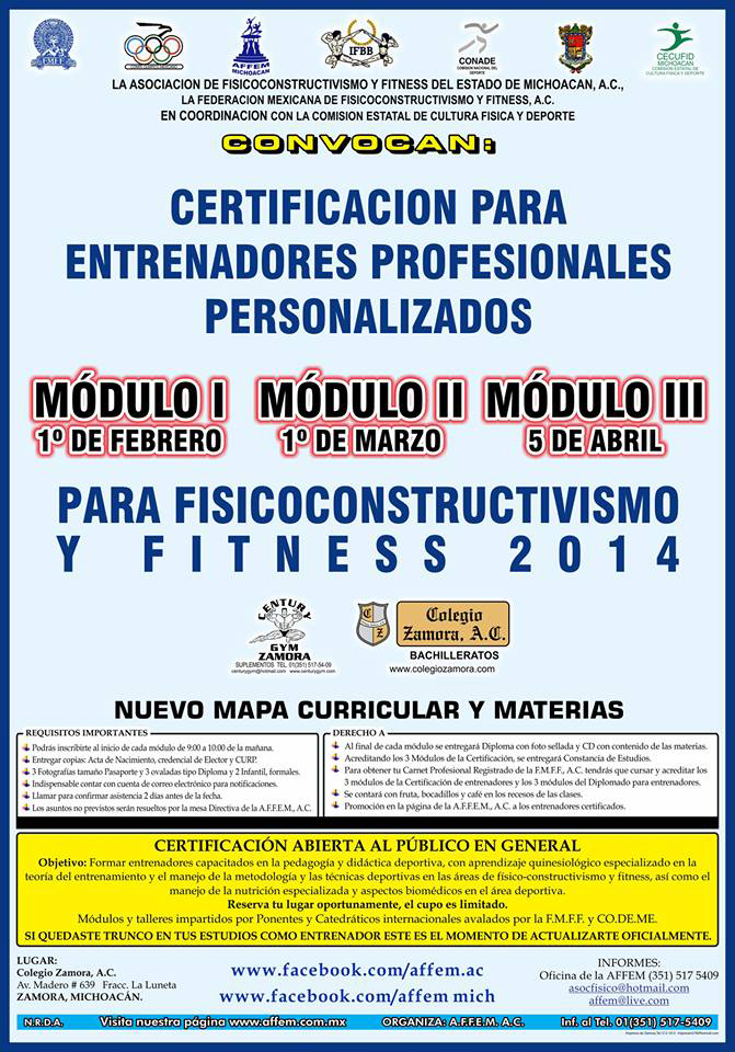 Lanzan convocatoria para Certificación de Entrenadores Profesionales