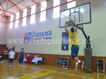 Las selecciones de basquetbol  Zamora y Puruándiro medirán fuerzas esta tarde en el Chamizal