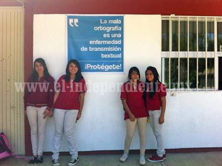 Bachilleres Los Reyes realiza intensa campaña en pro de la ortografía