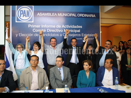Panistas zamoranos ratificaron a sus candidatos a consejeros estatales