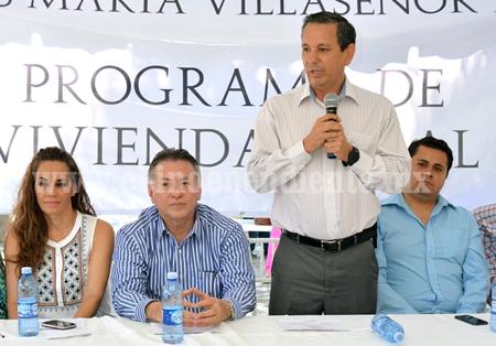 102 cuartos para vivienda rural en Sahuayo
