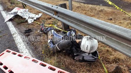 Motociclista perece en accidente