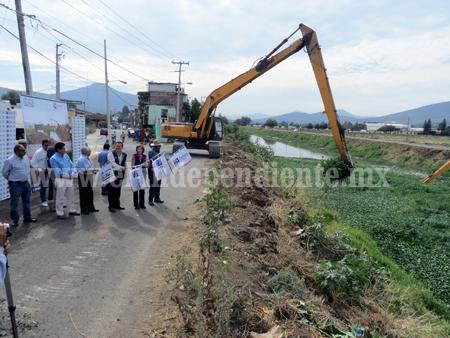 Inició la limpieza de drenes y canales para evitar inundaciones