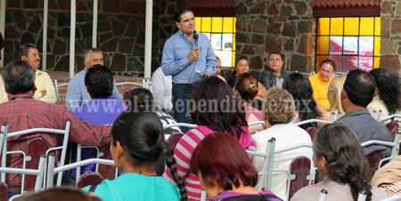Trabaja y promueve Silvano acciones reales en beneficio del campo michoacano