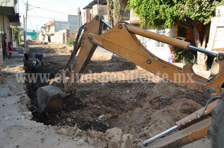 En la calle Buenos Aires iniciaron trabajos de pavimentación