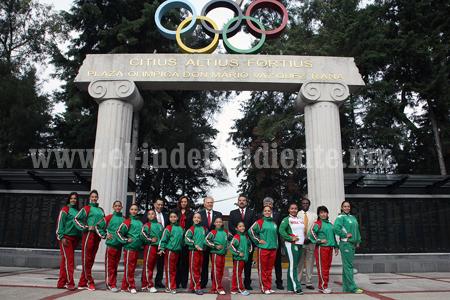 Abandera Comité Olímpico y CONADE a Zamoranas