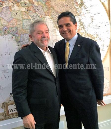 Se reúnen Silvano Aureoles y Lula da Silva, en Brasil