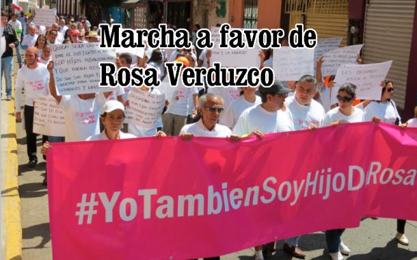Muestras de apoyo a Rosa Verduzco