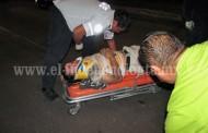 Herido tras violento derrape de moto