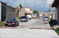 Al servicio de la comunidad la pavimentación de la calle López Mateos