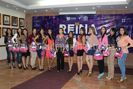 12 aspirantes por el cetro de Reina de las Fiestas Patrias Zamora 2014