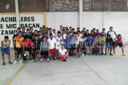 Concentración de jugadores de COBAEM-Club Raza de Águila