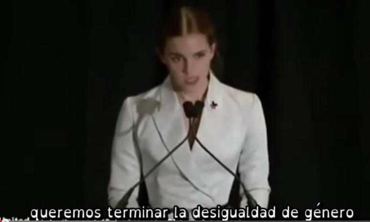 Emma Watson hace un llamamiento a la igualdad de género