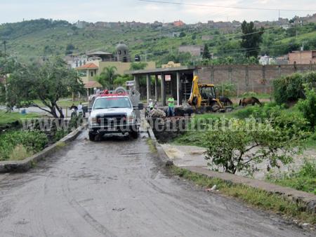 Afirma PC que no hay riesgo por crecida de Río Sahuayo