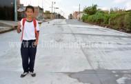 Finalizan trabajos de pavimentación en la calle Niños Héroes