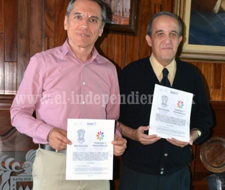 Firman convenio ayuntamiento de Sahuayo y FONACOT