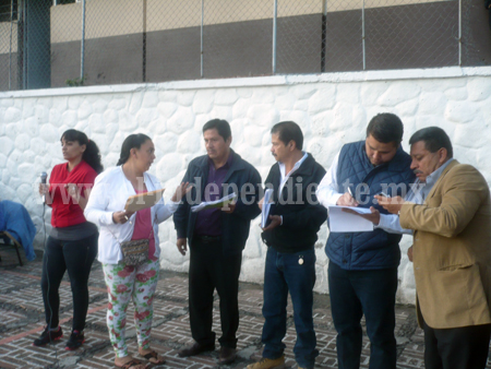 Armando Tejeda se reúne  con maestros de la Arriaga Rivera