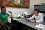 Toño Salas recibió a Jefe de tenencia de Sicuicho