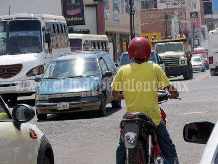 Jóvenes encabezan estadísticas de accidentes en motocicletas