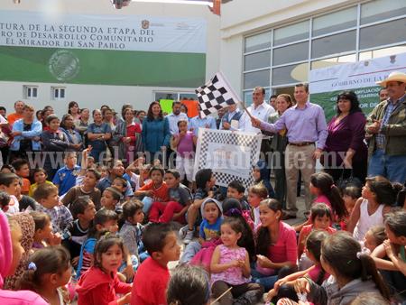 Dan banderazo de arranque a la 3ª  etapa del CEDECO Mirador de San Pablo