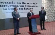 Agradece gobernador aprobación de reestructuración de crédito de Banobras