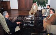 Salvador Jara respalda proyecto de instalación de mesa de seguridad y justicia en Apatzingán