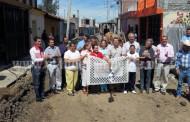 Alcalde de Jacona encabezó arranque  de la rehabilitación  de la calle Abasolo