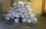 "Decomisan 37 costales de marihuana en ""Gallineros"", municipio de Cotija"