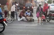 Accidente en el centro de Zamora deja un motociclista herido