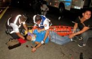 Madre e hijo que iban en una moto quedan heridos en accidente vial
