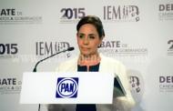 Yo no pactaré jamás con criminales como el PRD y el PRI: Cocoa Calderón