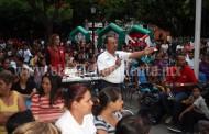 Dedicó candidato del PRI magno evento a niños en su día