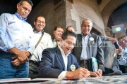 Silvano se comprometió con la comunidad migrante de michoacanos