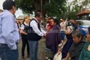 En Zacán, Palafox promete escuela de educación inicial