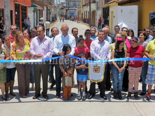 Inauguran la calle Abasolo con una inversión superior a 4 mdp