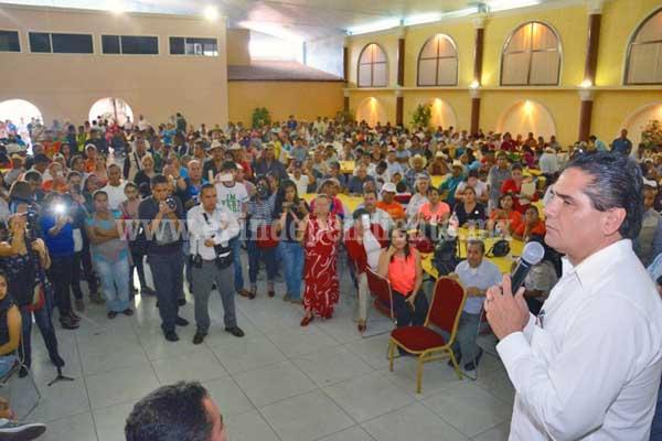 Mejorar la economía de Zitácuaro, compromiso de Silvano Aureoles