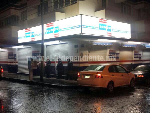 Asaltantes se llevan 40 mp de una  farmacia, MP no recibe la denuncia