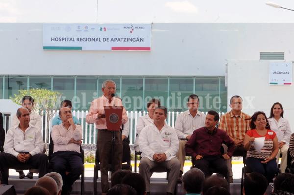 Inauguran el Hospital Regional de Apatzingán