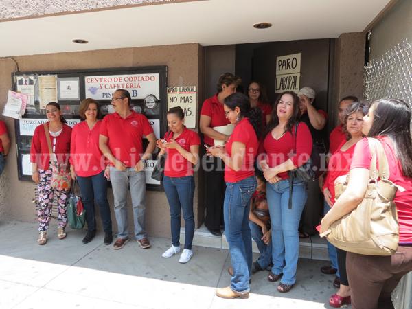 Paralizan labores en los  juzgados de Michoacán por falta de pago