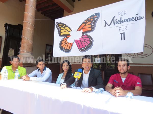"""Jóvenes universitarios crean la asociación """"Por Michoacán, por ti"""""""