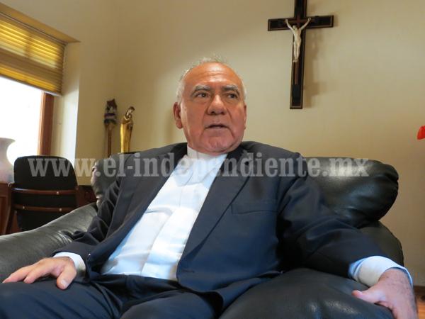 Pide obispo a sociedad colaboración con las nuevas autoridades