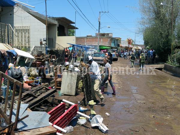 Tromba en Tangancícuaro dejó un muerto y más de 200 viviendas afectadas
