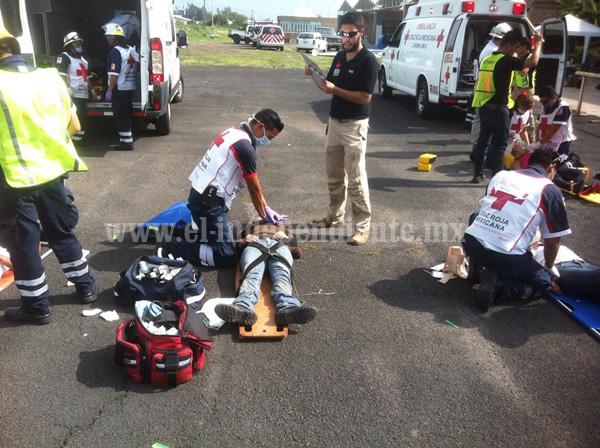 Cruz Roja  redobló esfuerzos para mejorar coordinación con diversas corporaciones de auxilio